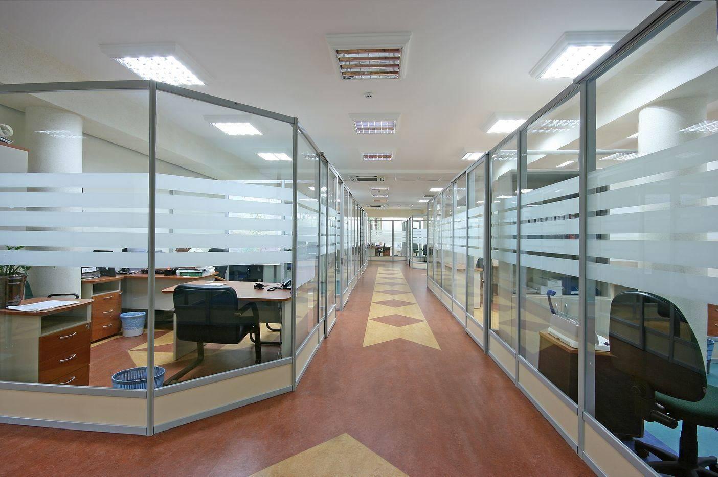 Офисные перегородки оклеенные пленкой